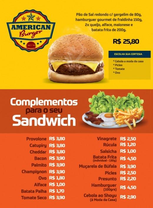 American Burger e Complementos