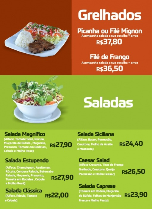 Grelhados e Saladas